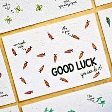 Bloom your message Bloeikaart: Good luck - Carrot