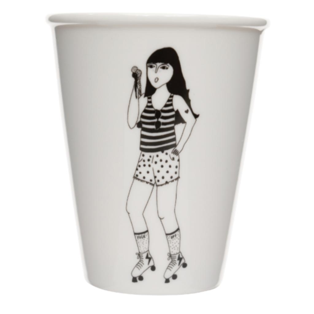 HelenB Beker | Roller girl mona