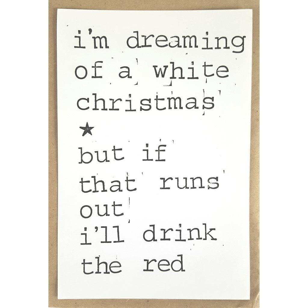Postkaarten By Mar i'm dreaming of a white christmas