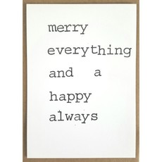 Postkaarten By Mar merry everything and a happy always