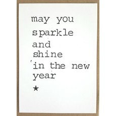 Postkaarten By Mar may you sparkle and shine in the new year