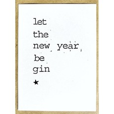 Postkaarten By Mar let the new year be gin