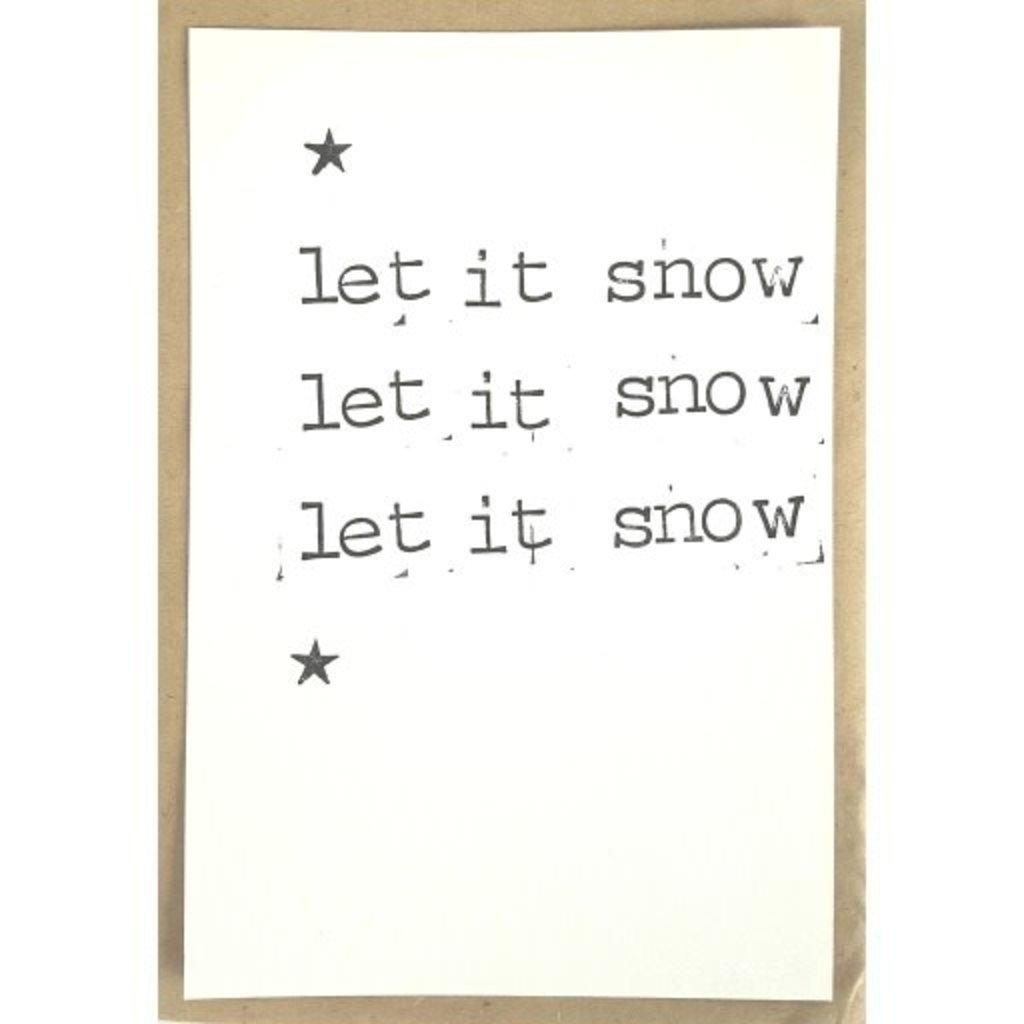 Postkaarten By Mar let it snow 3x