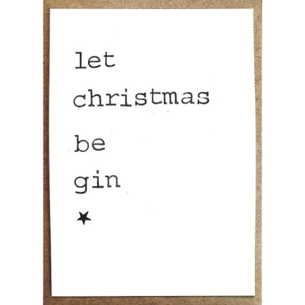 Postkaarten By Mar let christmas be gin