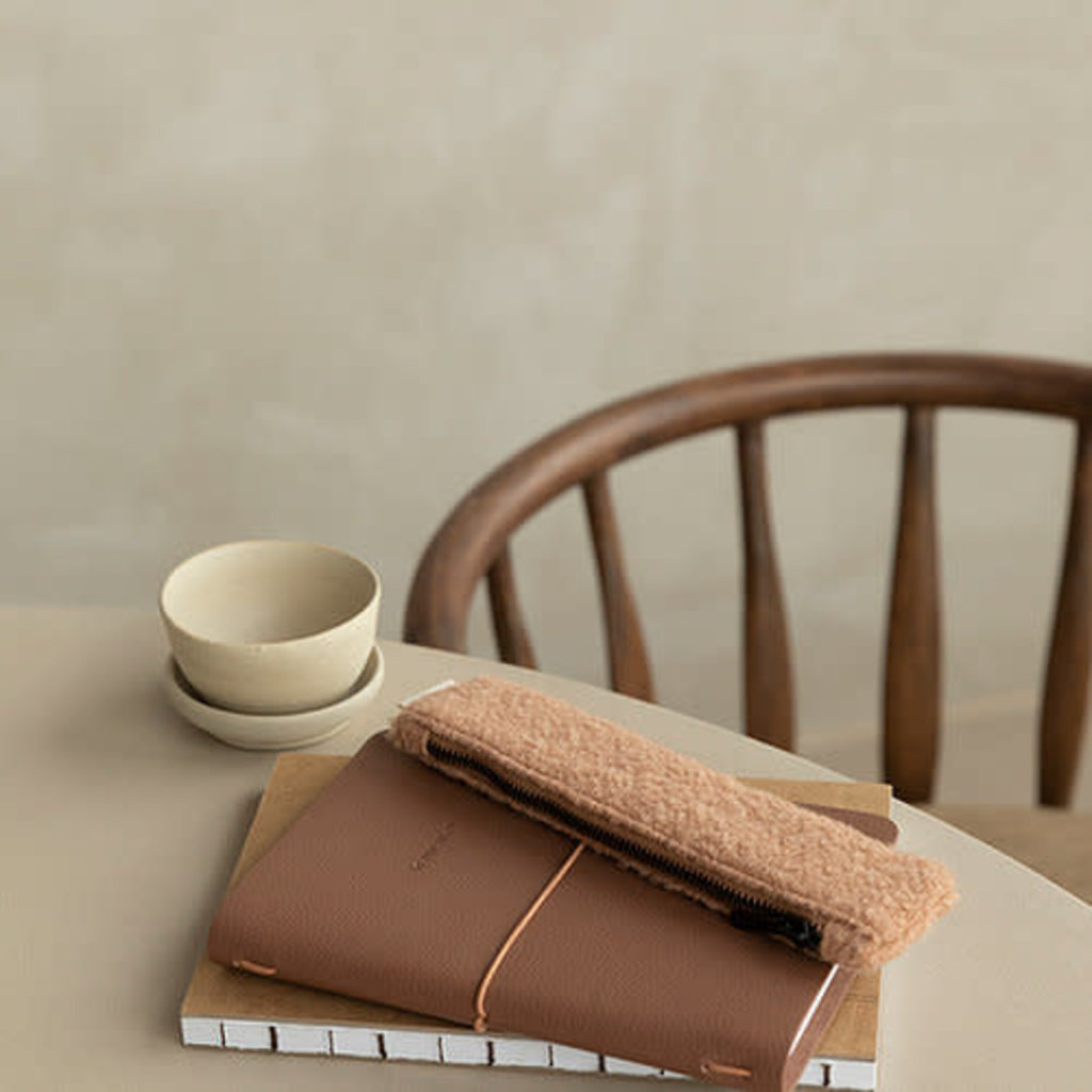 Monk & Anna Pencilcase | wool - cashew
