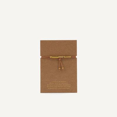 Monk & Anna Friendship bracelet - cashew
