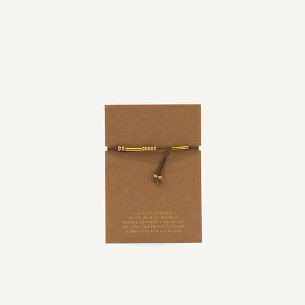 Monk & Anna Friendship bracelet - olive