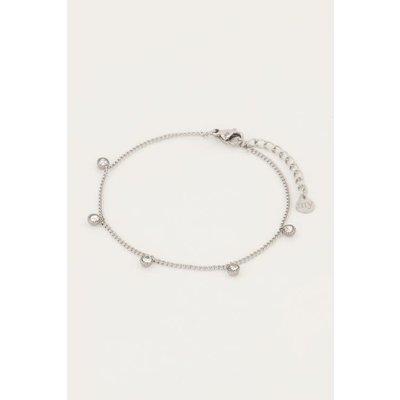 My Jewellery Armbandje vijf strass steentjes zilver
