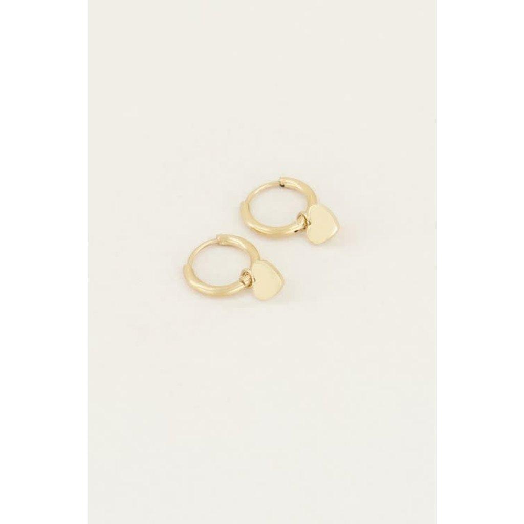 My Jewellery Oorringen met hartje goud