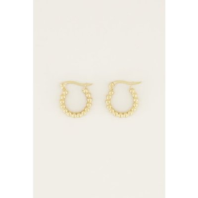 My Jewellery Oorringen bolletjes klein goud