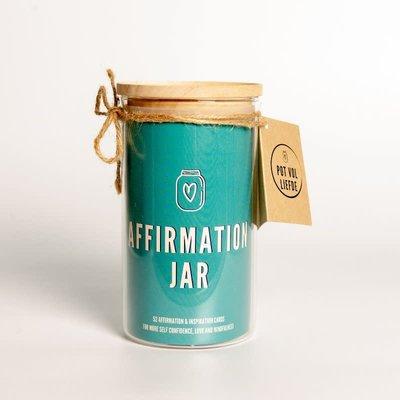 Leef Vol Liefde Affirmation Jar