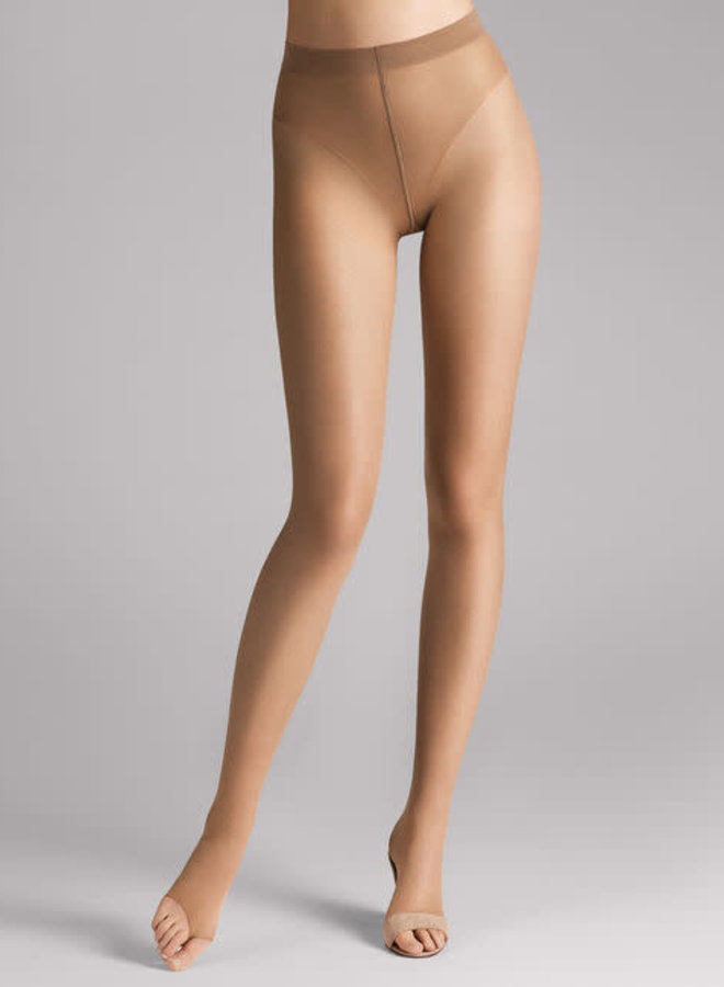 Wolford Luxe 9 Toeless Tights Caramel S