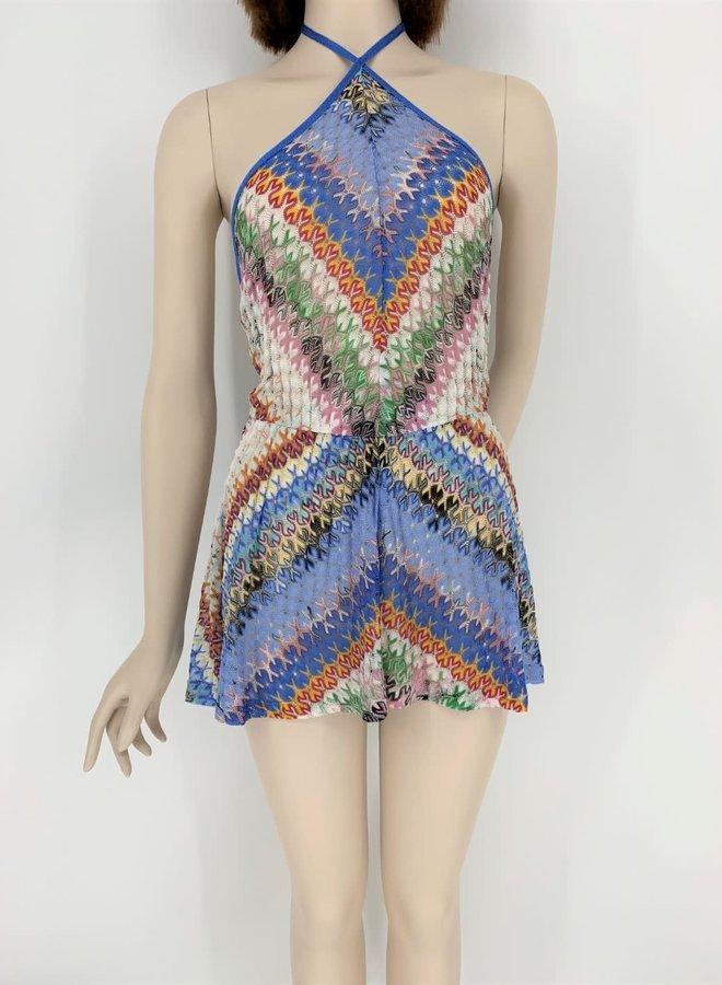 Missoni Mare Crochet-Knit Korte Jumpsuit