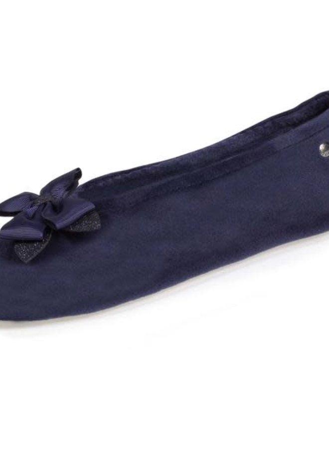 Isotoner Slippers XXL Satijn Strik