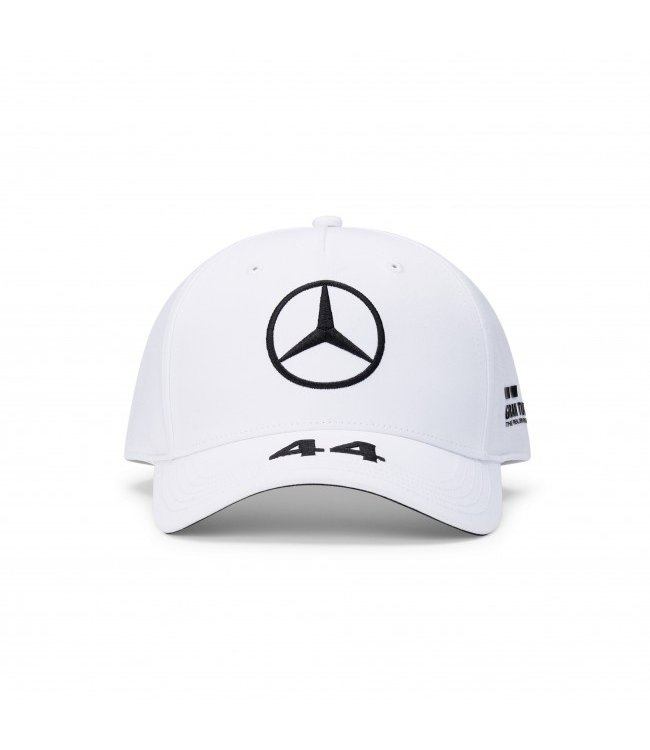 Mercedes AMG Petronas AMG F1 Lewis Hamilton Driver Cap White Adult  Collection 2020