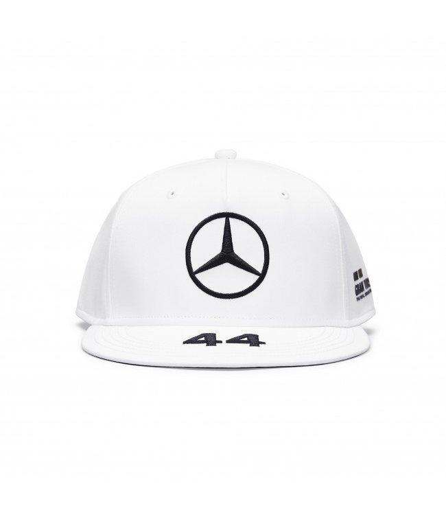 Mercedes AMG Petronas F1 Lewis Hamilton Driver Cap Flatbrim White Adult  Collection 2020