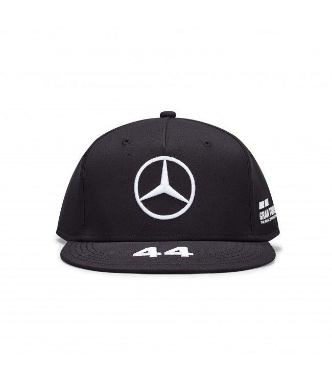Mercedes AMG Petronas F1 Lewis Hamilton Driver Cap Flatbrim Black Adult  Collection 2020