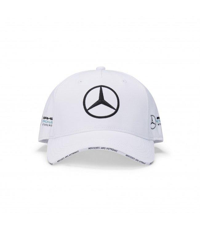 Mercedes AMG Petronas AMG F1 Team Baseball Cap White Adult  Collection 2020