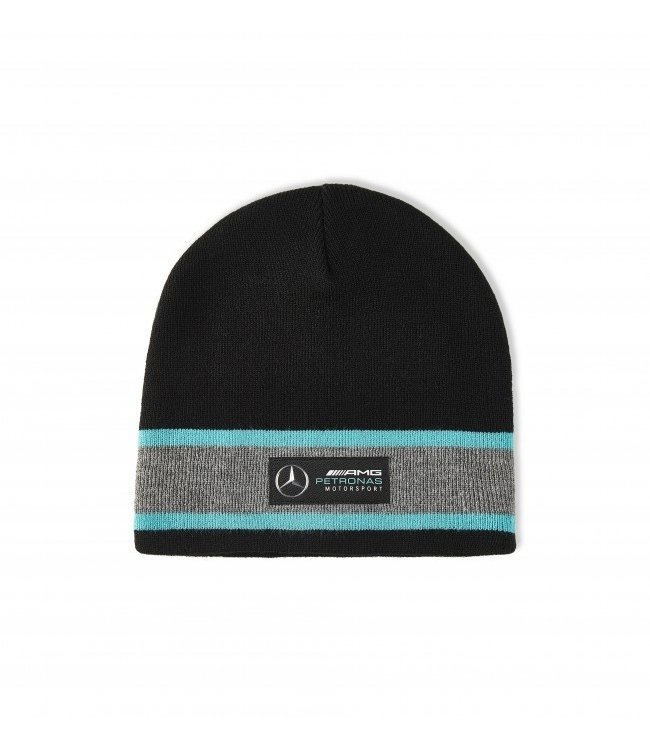 Mercedes AMG Petronas AMG F1 Team Beanie Black Adult  Collection 2020