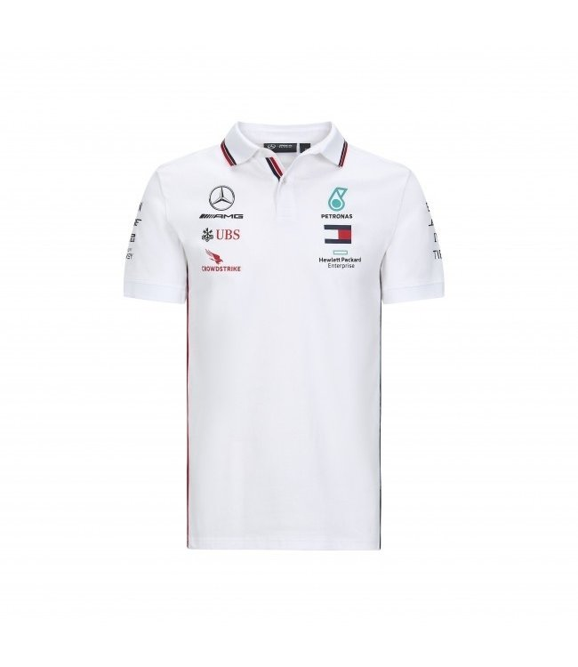 Mercedes AMG Petronas F1 Team Polo White Adult Collectie 2020