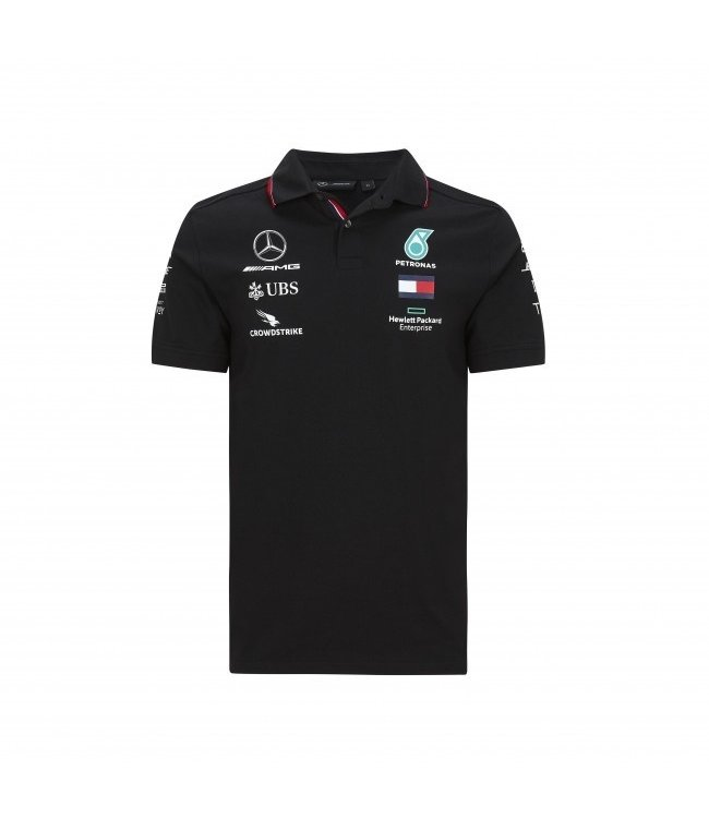 Mercedes AMG Petronas F1 Team Polo Black Adult - Collection 2020