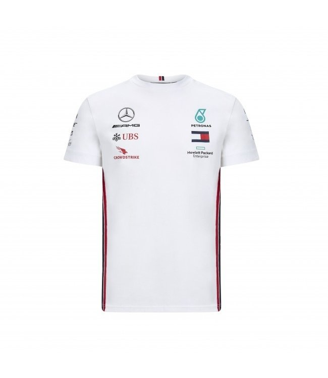 Mercedes AMG Petronas AMG F1 Team Drivers T-Shirt White Kids Collectie 2020