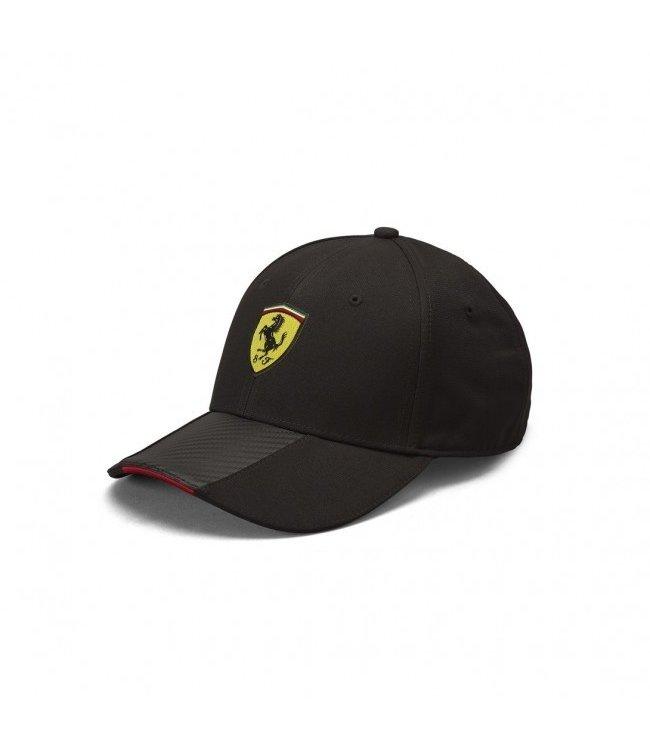 Ferrari F1 Team Scudetto Carbon Strip Cap Black Adult - Collection 2021