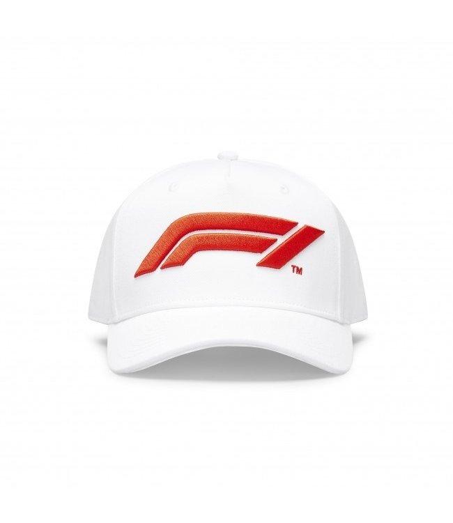 F1 Formula 1 Adult Logo Baseball Cap White - Collection 2020