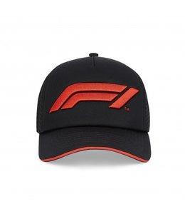 F1 Formula 1 Logo Baseball Cap Adult Black