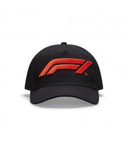F1 Formula 1 Logo Baseball Cap Kids Black