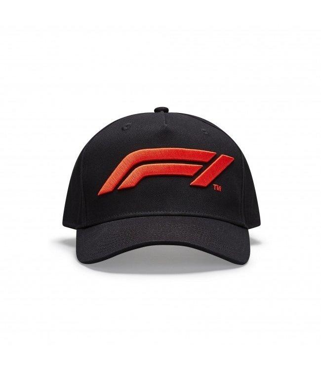 F1 Formula 1 Kids Logo Baseball Cap Black - Collection 2020