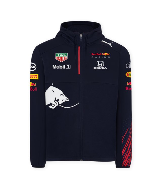 Red Bull Racing Team Hooded Sweat Jacket Men - Collection 2021
