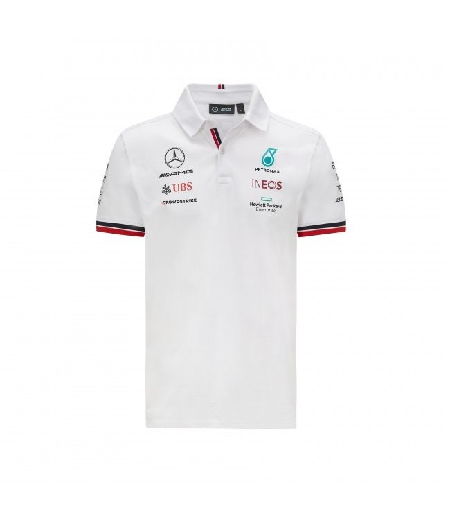 Mercedes AMG Petronas F1 Team Polo White Adult Collectie 2021