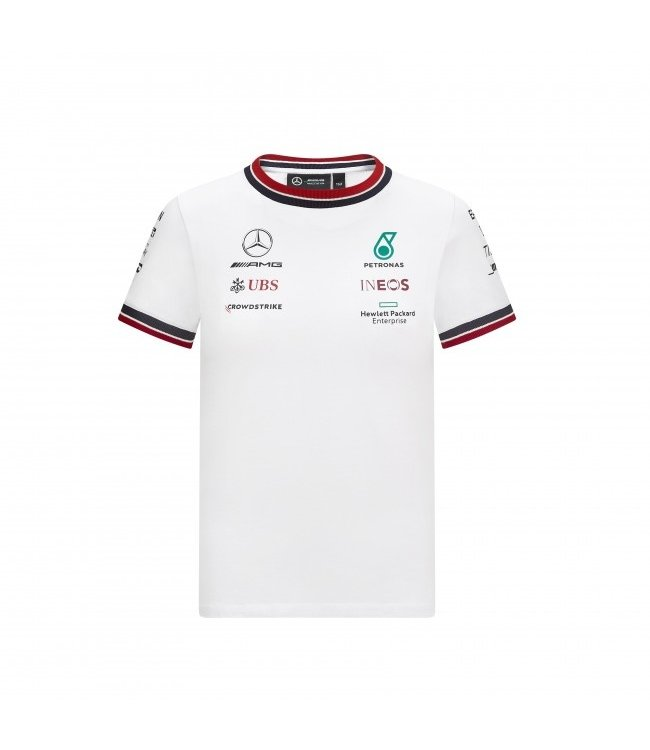 Mercedes AMG Petronas F1 Team Driver T-Shirt White Kids - Collection 2021