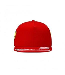 Ferrari F1 2021 Carlos Sainz Driver Flat Brim Cap Kids
