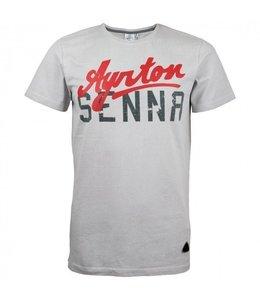 Ayrton Senna T-shirt Gray Adult