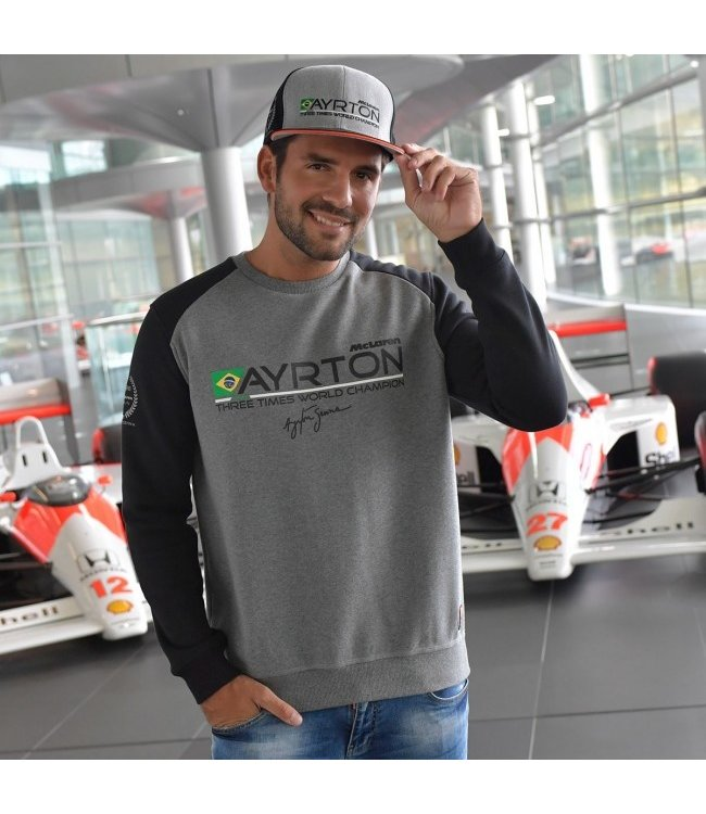 Ayrton Senna McLaren World Champion 1988 Sweat Shirt Adult Fan Collection