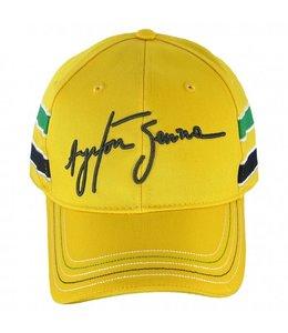 Ayrton Senna Baseball Cap Signature Yellow Adult