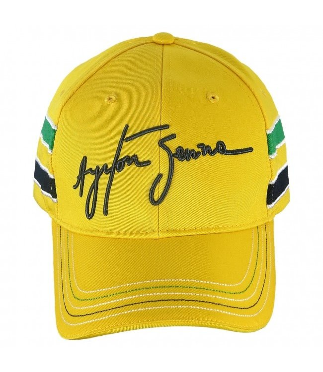 Ayrton Senna Baseball Cap Signature Yellow Adult - Senna Foundation Collection