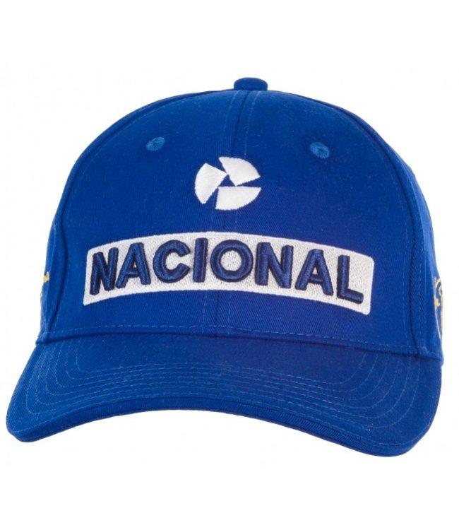 Ayrton Senna Baseball Cap Nacional Blue Kids Fan Collection