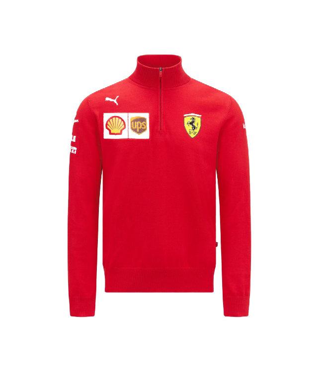 Ferrari F1 Team Scuderia Half Zip Sweat Jumper Adult - Collection 2021
