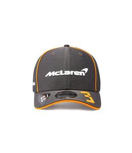 McLaren Mercedes F1 2021 Adult Driver Baseball Cap Daniel Ricciardo Anthracite Black