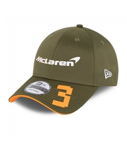 "McLaren Mercedes F1 2021 Adult Driver Baseball Cap Daniel Ricciardo ""Australia"" Edition Black"