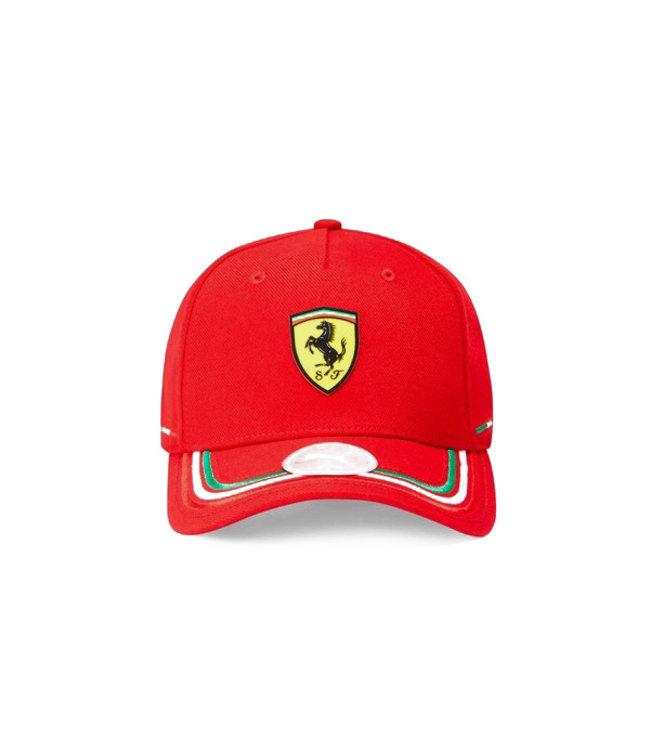 Ferrari F1 Team Scudetto Italian Stripes Cap Red Adult - Collection 2021