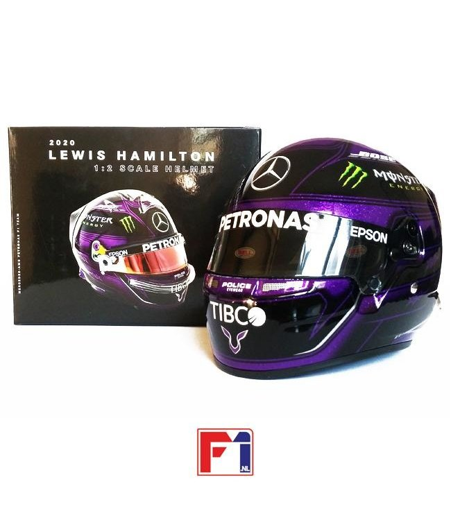 Mercedes AMG Petronas F1 1:2 Scale Bell Helmet Lewis Hamilton 2020 BLM - Collection 2020