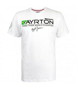 Ayrton Senna McLaren 3 Times World Champion Tee Adult