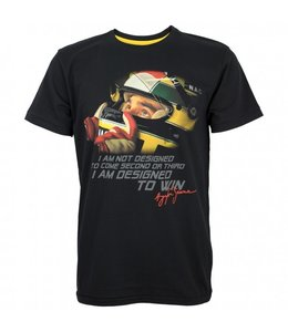 "Ayrton Senna ""Designed to Win"" Tee Adult"