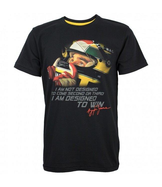 "Ayrton Senna ""Designed to Win"" Adult Tee - Senna Foundation Collection"