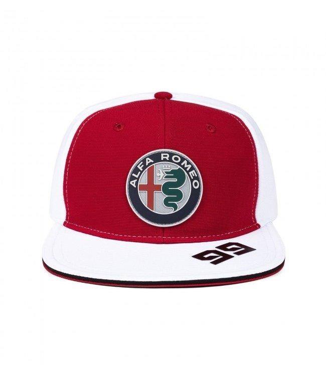 Alfa Romeo Formula 1 Antonio Giovinazzi Driver Flatbrim Cap Adult - Collection 2021