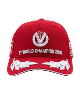 Michael Schumacher Formula 1 2000 World Champion Limited Edition Red Adult Baseball Cap